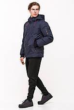 Качественная мужская куртка SOOYT SOT17-M1295 темно-синяя (#404), фото 2