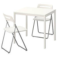 Стол и 2 стула IKEA MELLTORP / NISSE