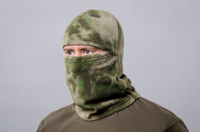 Шапка-маска флисовая атакс зеленый
