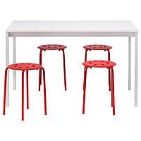 Стол и 4 стула IKEA MELLTORP / MARIUS