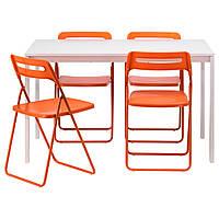 Стол и 4 стула IKEA MELLTORP / NISSE