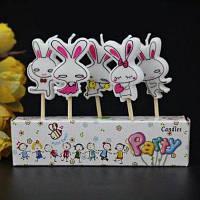 Креативные свечи в форме радуги звезды на День рождения детской вечеринки 5шт № 3