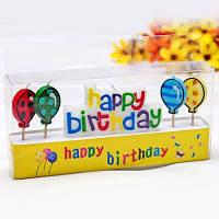 Креативные свечи в форме радуги звезды на День рождения детской вечеринки 5шт NO.10