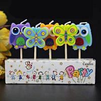 Креативные свечи в форме радуги звезды на День рождения детской вечеринки 5шт No.6