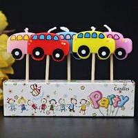 Креативные свечи в форме радуги звезды на День рождения детской вечеринки 5шт No.4