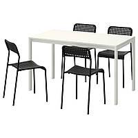 Стол и 4 стула IKEA MELLTORP / ADDE