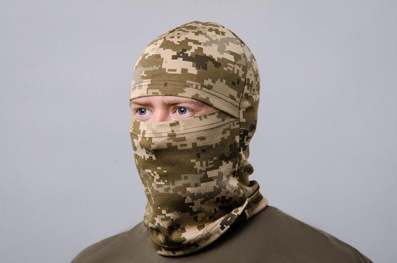 Шапка-маска (подшлемник) пиксель ВСУ хб летняя