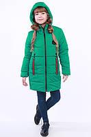 Куртка детская для девочки демисезонная зеленая на рост 116 - 152 см, NK-12