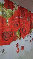 ФотоШтора Розы и бусы