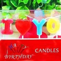 Набор свечей для Дня рождения девочки девушки надпись Как на изображении