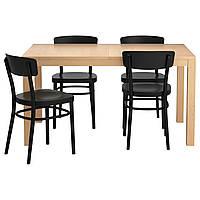 Стол и 4 стула IKEA BJURSTA / IDOLF