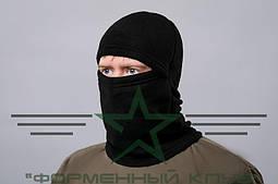 Шапка-маска флис черная/ Балаклава зимняя