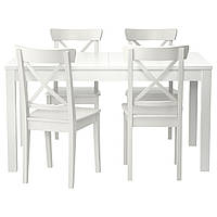 Стол и 4 стула IKEA BJURSTA / INGOLF