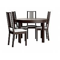 Стол и 4 стула IKEA BJURSTA / BÖRJE