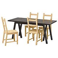 Стол и 4 стула IKEA RYGGESTAD / GREBBESTAD / IVAR