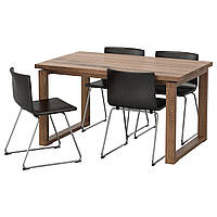 Стол и 4 стула IKEA MÖRBYLÅNGA / BERNHARD