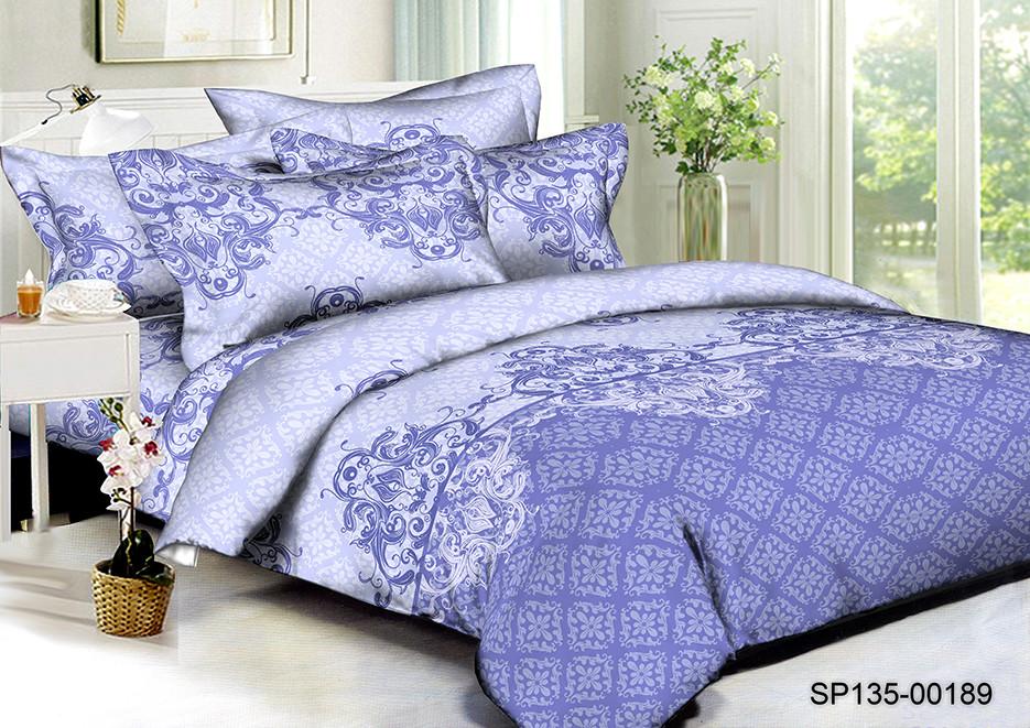 Полуторный комплект постельного белья 150х220 из полисатина Премиум