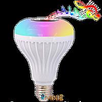 Блютуз лампочка с динамиком и пультом