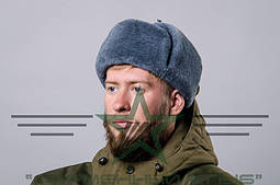 Шапка-ушанка натуральный мех солдатская оригинал