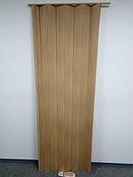 Дверь гармошка ширма бук 820х2030х0,6 мм 503 раздвижная межкомнатная пластиковая глухая