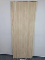 Гармошка - ширма сосна 820х2030х0,6 мм 7012 раздвижная межкомнатная пластиковая глухая, фото 1
