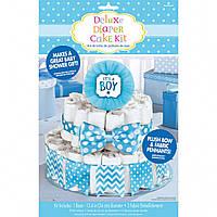 Декор для торта из подгузников для мальчика