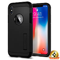 Чехол Spigen для iPhone X Tough Armor, Matte Black, фото 1