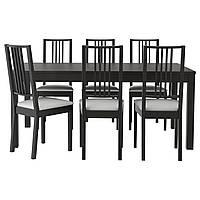 Стол и 6 стульев IKEA BJURSTA / BÖRJE