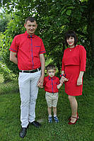 Рубашка с бабочкой на мальчика с коротким рукавом