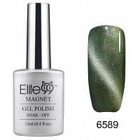 Elite99 Съемный гель кошачий глаз гель 3D УФ гель для ногтей дизайн ногтей 12мл серо-зеленый с отливом