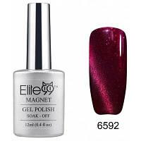 Elite99 Съемный гель кошачий глаз гель 3D УФ гель для ногтей дизайн ногтей 12мл красно-фиолетовый с отливом