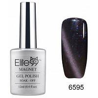 Elite99 Съемный гель кошачий глаз гель 3D УФ гель для ногтей дизайн ногтей 12мл серо-фиолетовый с отливом