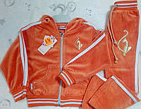 Спортивный костюм велюровый оранжевый