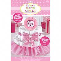 Декор для торта из подгузников для девочки
