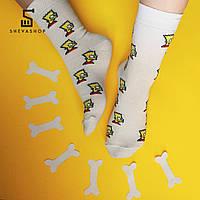 """Носки Soberay  """"Bart"""", белые"""