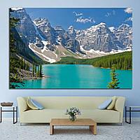Картина - панорамный вид на горы и реку Канада