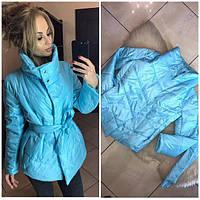 Куртка женская весенняя с поясом