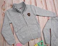 Теплый школьный кофта-джемпер на молнии для мальчика (3-5 лет.) 27П6