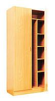 Шкаф для одежды и книг закрытый С-07 (850х432х1864 мм)
