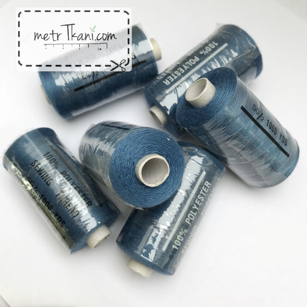 Нитки швейные 50/20 1000 ярдов, джинсового цвет № N-1000-218а