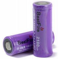 Пара BestFire 18500 и 2100mah 3.7 V аккумуляторная imr литий-ионный аккумулятор Li-МП батарея Фиолетовый