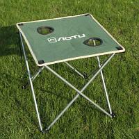 AOTU Утолщенные складной стол с Ткань Оксфорд для барбекю на открытом воздухе и кемпинга Зелёный