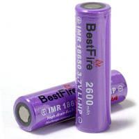 Пара BestFire ИМР 18650 2600мач 3.7 литий-сильный V литий-ионный аккумулятор Фиолетовый