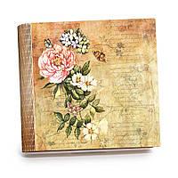 "Шкатулка-книга на магните с 9 отделениями XL ""Винтажные бабочки"""