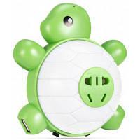 Супер милый USB разъем для зарядки Черепаха светодиодный свет ночи свет / Голосовое управление Белый