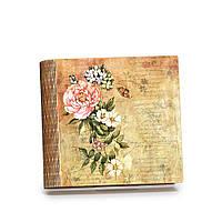 """Шкатулка-книга на магните с 9 отделениями """"винтажные бабочки"""""""