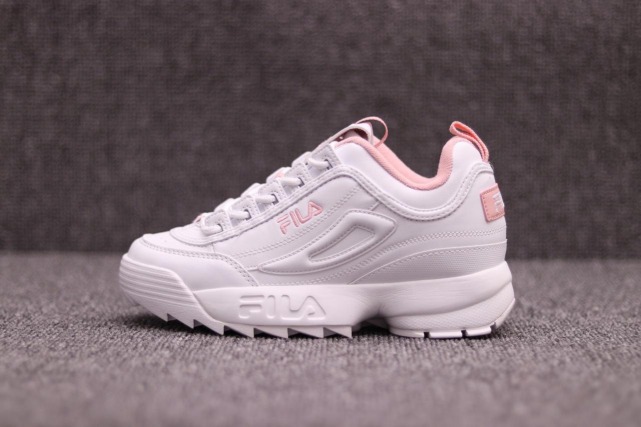 16b52ff6d187 Женские кроссовки Fila Disruptor II White Pink - Компания