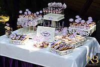 Свадебный Кенди бар Candy Bar Лаванда