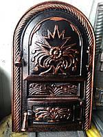 """Дверцы печные, для барбекю """"Корона Арочная цветная"""". Дверцы для кухни"""