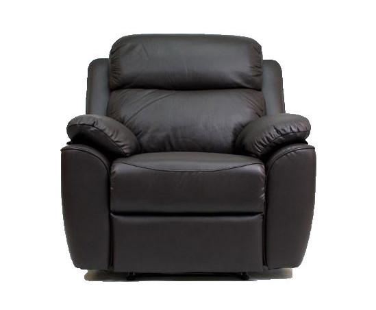 Кожаное кресло реклайнер с вращением ALABAMA BIS